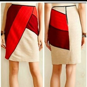 Anthropologie | Maeve Color Block Pencil Skirt